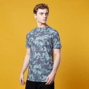 Batman Camo Neck Ribbed T-Shirt - Khaki