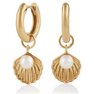 Olivia Burton Women's Shell Huggie Hoops - Gold