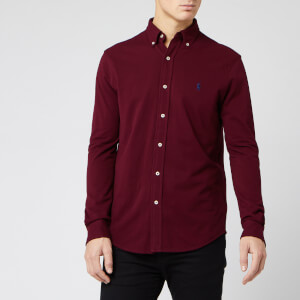 Polo Ralph Lauren Men's Featherweight Mesh Shirt - Classic Wine