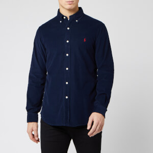 Polo Ralph Lauren Men's Custom Fit Cord Shirt - Navy
