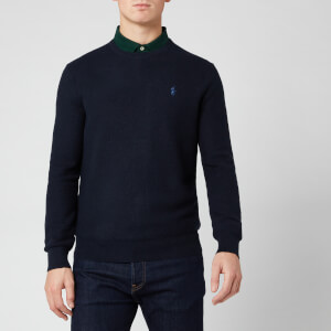 Polo Ralph Lauren Men's Waffle Pima Crew Jumper - Navy Heather