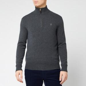 Polo Ralph Lauren Men's Loryelle Wool Half Zip Sweatshirt - Dark Charcoal Heather