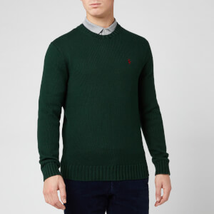 Polo Ralph Lauren Men's Crochet Knit Jumper - College Green