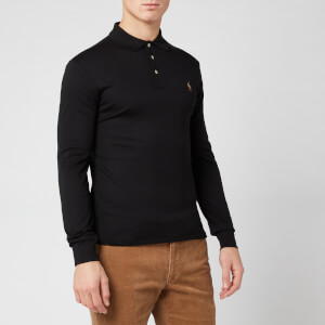 Polo Ralph Lauren Men's Pima Long Sleeve Polo Shirt - Polo Black
