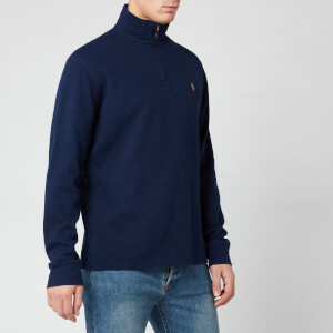 Polo Ralph Lauren Men's Estate Rib Half Zip Pullover - Cruise Navy