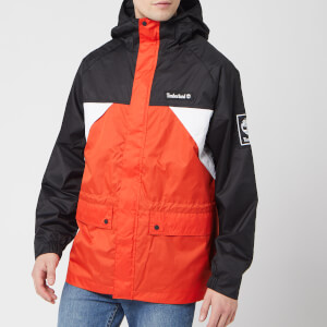 Timberland Men's Outdoor Archive Weather Breaker Coat - White/Spicy Orange/Black