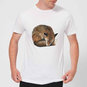 Curled Up Fox Men's T-Shirt - White