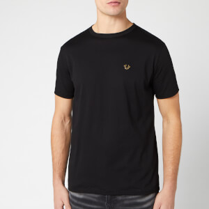 True Religion Men's Metal Horseshoe Crew T-Shirt - Black
