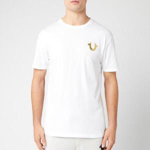 True Religion Men's Metallic Gold Buddha T-Shirt - White