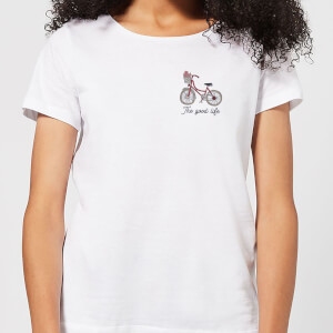 Bicycle The Good Life Pocket Print Women's T-Shirt - White