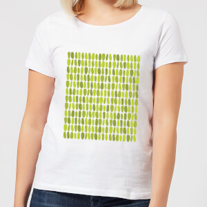 Green Leafy Blobs Women's T-Shirt - White