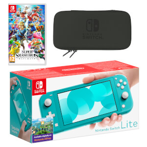 Nintendo Switch Lite (Turquoise) Super Smash Bros. Ultimate Pack