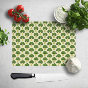 Cooking Broccoli Pattern Chopping Board