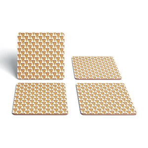 Cooking Pizza Slice Pattern Coaster Set