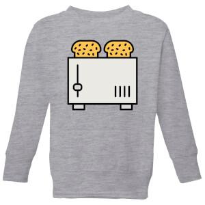Cooking Toast In The Toaster Kids' Sweatshirt