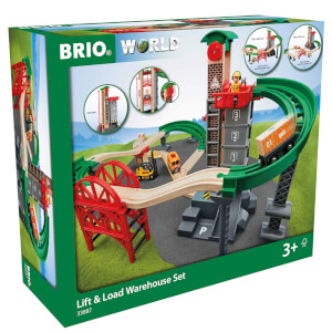 BRIO World - Lift and Load Warehouse Set