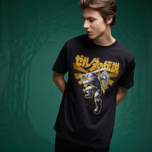 Legend Of Zelda Link Kanji T-Shirt - Black