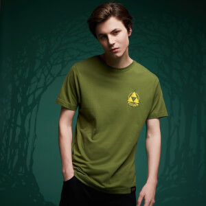 Legend Of Zelda Embroidered Triforce T-Shirt - Forest Green
