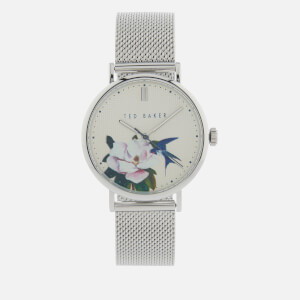 Ted Baker Women's Phylipa Flower Watch - Silver