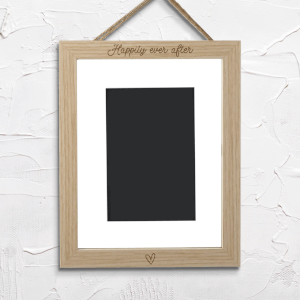 Happily Ever After Portrait Frame