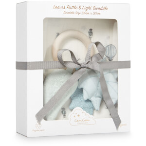 Cam Cam Swaddle and Leaves Rattle Gift Box - Holiday
