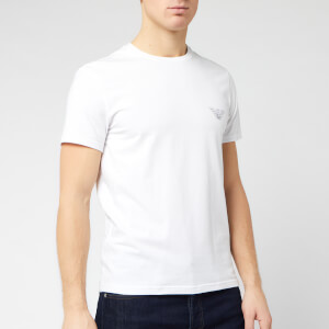 Emporio Armani Men's Small Chest Eagle T-Shirt - White