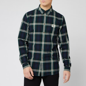 Lacoste Men's Large Check Long Sleeve Shirt - Sabler