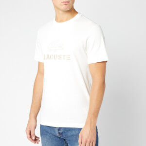 Lacoste Men's Tonal Croc T-Shirt - Flour