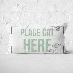 Place Cat Here Rectangular Cushion