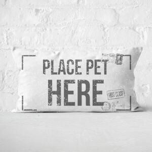 Place Pet Here Rectangular Cushion