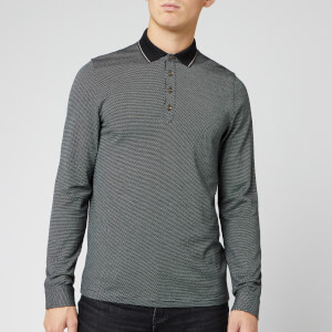 Ted Baker Men's Cuptea Long Sleeve Striped Polo Shirt - Black