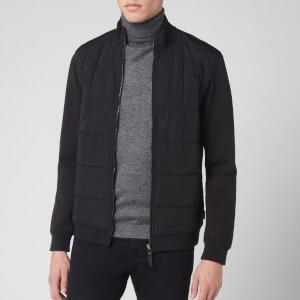Ted Baker Men's Pasport Long Sleeve Quilted Funnel Neck Sweatshirt - Black