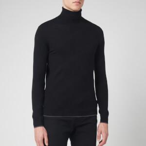 Ted Baker Men's Newtrik Fitted Roll Neck Sweatshirt - Black