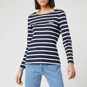 Barbour Women's Hawkins Breton Stripe Long Sleeve Top - Navy/White