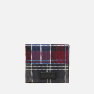 Barbour Men's Mixed Tartan Coin Billfold Wallet - Merlot/Shadow