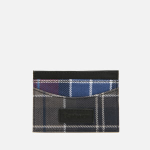 Barbour Men's Mixed Tartan Card Holder - Merlot/Shadow
