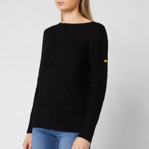 Barbour International Women's Relay Knit Jumper - Black