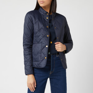 Barbour Women's Emma Bridgewater Morley Quilted Jacket - Navy/Navy Spot