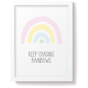 Snüz Keep Chasing Rainbows Nursery Print - Pastel