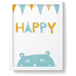 Snüz Happy Nursery Print - Blue