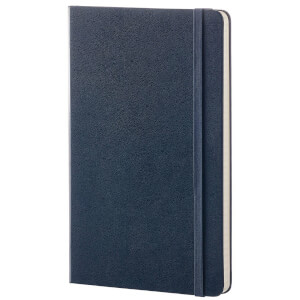 Moleskine Classic Ruled Hardcover Large Notebook - Sapphire Blue