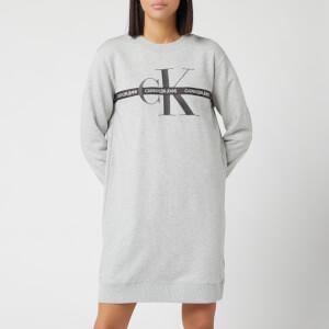 Calvin Klein Jeans Women's Monogram Sweat Dress - Light Grey Heather