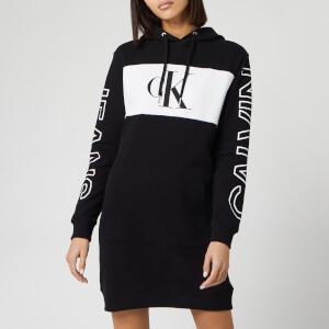 Calvin Klein Jeans Women's Blocking Statement Logo Dress - CK Black