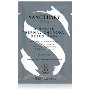 Sanctuary Spa 5 Minute Thermal Charcoal Detox Mask Sachet 15g