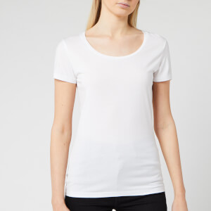 BOSS Short Sleeve Women's Tigreat Short Sleeve Basic T-Shirt - White