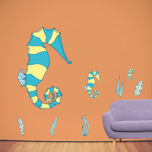 Sea Horse Family Wall Art Sticker Pack