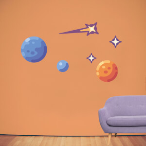 Planets And Stars Wall Art Sticker Pack