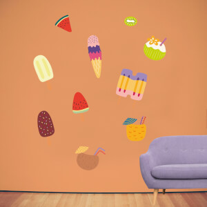 Summer Treats Wall Art Sticker Pack