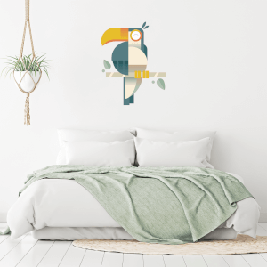 Vectored Toucan Wall Art Sticker