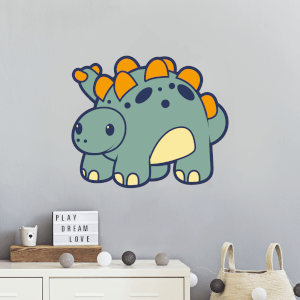 Smiling Dinosaur Wall Art Sticker